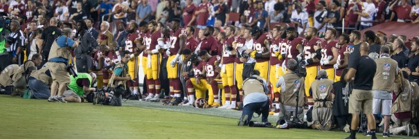 Washington Redskins National Anthem Kneeling